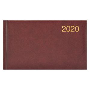 Еженедельник карманный датированный BRUNNEN 2020 Miradur бордовый