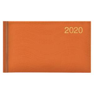Еженедельник карманный датированный BRUNNEN 2020 WAVE оранжевый