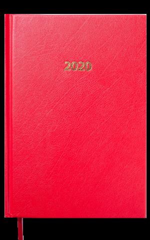 Ежедневник датированный 2020 STRONG, А5, твердая обложка, красный