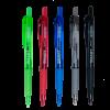 Ручка шариковая автомат. с резиновым грипом, разноцветные прозрачные