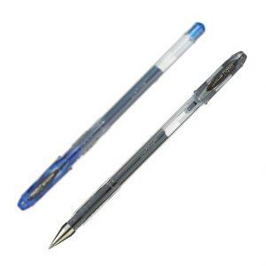 Ручка гелевая SIGNO, 0,7мм, UM-120 (черный, синий)