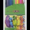 Карандаши цветные 12 цветов SMOOTH  в пвх-пенале + точилка