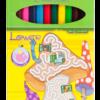 Карандаши цветные 12 цветов LOWER, шестигранный корпус