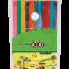 Карандаши цветные 12 цветов PROTECT, пластиковый корпус,  в пенале ПВХ