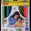 Карандаши цветные 12 цветов JUMBO, трехгранные + точилка