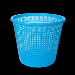 Корзина для бумаг пластиковая 8л. 5 ярких цветов