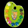 Акварельные краски на пластиковой палитре 12 цветов, с крышкой + кисточка