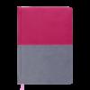 Ежедневник датированный 2020 QUATTRO, А5,  розовый с серым