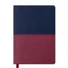 Ежедневник датированный 2020 QUATTRO, A6, синий с бордовым