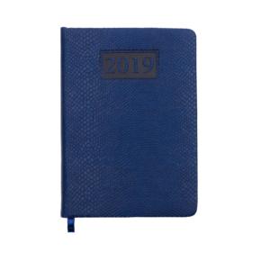 Ежедневник А6 карманный датированный 2019 AMAZONIA синий, серебряный срез
