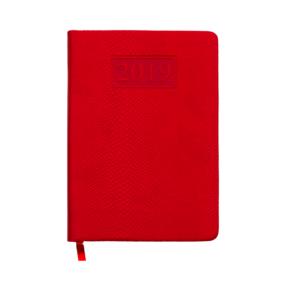 Ежедневник А6 карманный датированный 2019 AMAZONIA красный, золотой срез