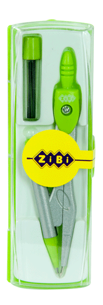 Циркуль с механическим карандашом (козья ножка) в пластиковом футляре + зап.грифель