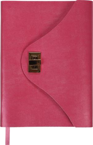 Ежедневник А5 недатированный FOREVER розовый, кремовый блок, на застежке