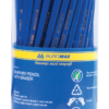 Карандаш НВ шестигранный с ластиком, пластиковый, синий 22993