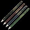 Карандаш BOSS НВ круглый с ластиком, деревянный, разноцветные