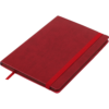 Блокнот деловой BRIEF, А5, 96л., обложка из кожзама, на резинке, чистый, красный