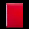 Тетрадь на пружине BRIGHT А5, 60 листов с пластиковой обложкой, красный
