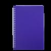Тетрадь на пружине BRIGHT А5, 60 листов с пластиковой обложкой, фиолетовый