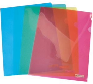 Папка-уголок пластиковая А4 JOBMAX