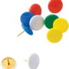 Кнопки с пластиковым цветным покрытием, 100шт/уп, в пластиковым контейнере