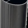 Стакан для ручек на 2 отделения круглый JOBMAX, черный