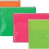 Папка-конверт ZIP-LOCK + кнопка, формат А4, 2 отделения (4 цвета)