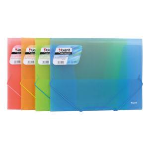 Папка пластиковая полупрозрачная А4 на резинке (4 ярких цвета)
