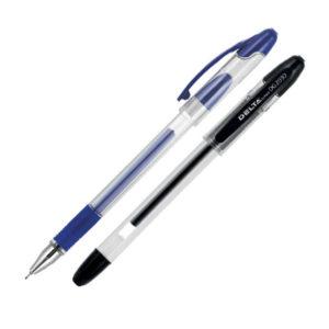Ручка гелевая с резиновым грипом Delta DG2030, 0.5 мм