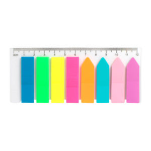 Закладки пластиковые с клейким слоем 45х12мм, 200шт, стрелки+прямоугольные