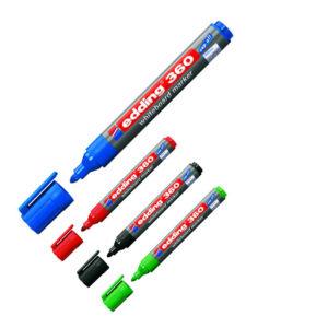 Маркер для магнитных досок e-360 1.5-3 мм, круглый наконечник (4 цвета)