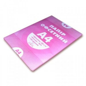 Бумага писчая А4, 60г/м2, 100 листов
