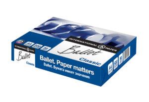 Бумага А4 BALLET CLASSIC офисная, белая, класс B,  80г/м, 500лист/пачка