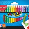 Мелки восковые COLOR PEPS WAX Crayons,  18 цветов