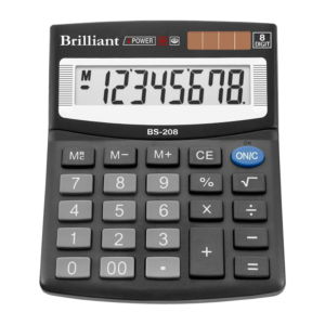 Калькулятор BRILLIANT BS-208, 8 разрядов, две батареи