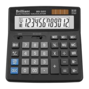 Калькулятор BRILLIANT BS-320, 12 разрядов, две батареи