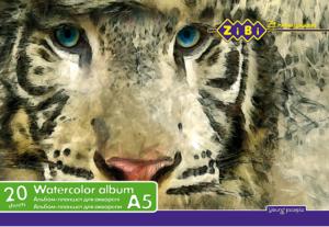 Альбом (скетчпад) А5 для рисования 20 листов, на твердой основе, клееный, для акварели