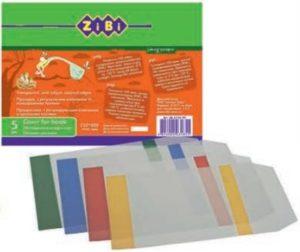 Обложки для учебников прозрачные с клапаном 225х400мм, 5 штук, 75мкм