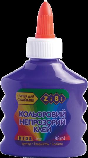 Клей для слаймов, фиолетовый непрозрачный, 88 мл