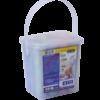 Мел цветной JUMBO цилиндрический 12 шт. в пластиковом ведре