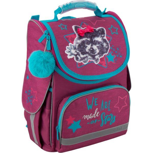 Рюкзак шкільний каркасный Kite Education Fluffy racoon K19-501S-3
