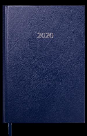 Ежедневник датированный 2020 STRONG, А5, твердая обложка, темно-синий