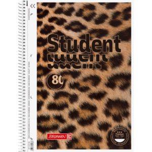 Колледж-блок А4 Premium, клетка, 80 арк., Animal, микроперфорация, 4 отверстия