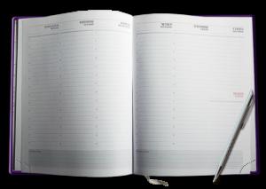 Блок А4 НЕдатированный еженедельник – неделя на развороте, белый