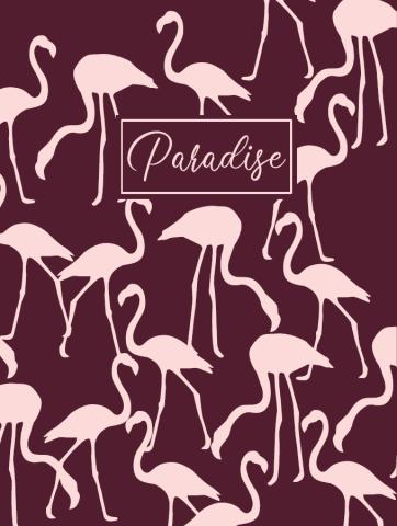 Ежедневник А5 недатированный PARADISE бордовый