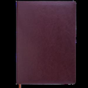 Ежедневник недатированный А4 BRAVO коричневый, кремовый блок