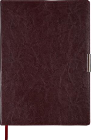 Ежедневник недатированный А4 SALERNO бордовый, кремовый блок, гибкий