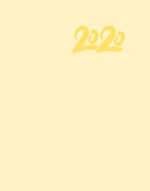Ежедневник датированный 2020 CRAYON, А5, желтый