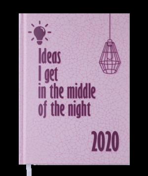 Ежедневник датированный 2020 FATTORE, А5, розовый