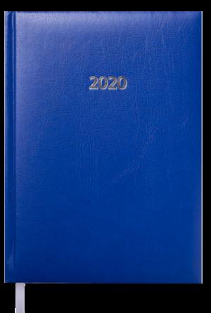 Ежедневник датированный 2020 FORCE, A5, синий