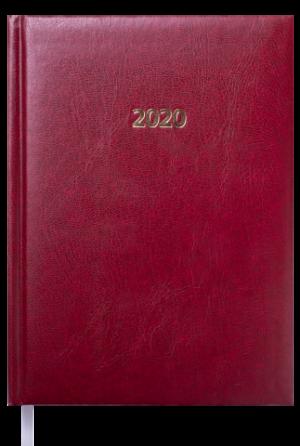 Ежедневник датированный 2020 FORCE, A5, бордовый